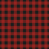 Lumberjack plaid seamless pattern. Vector illustration. Dark red color. Textile template.