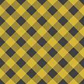 Lumberjack plaid seamless pattern. Vector illustration. Yellow color. Textile template.