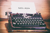 Retro Style Typed on a Vintage Typewriter