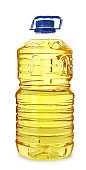 Cooking oil in plastic bottle