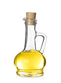 Cooking oil in glass jug