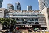 Apple store of IFC mall of Hong Kong at daytime