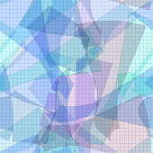 Seamless pattern of colorful patterns to sew. Sewing abstract background.