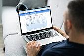 Man Using Online Bank