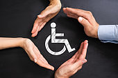 Disabled Icon. Worker Injury And Disability