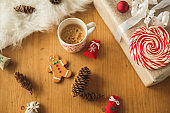 Have your cup pf coffee while decorating home for December