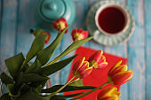 Flowers and tea always work together