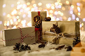 Light brown gifts for three people