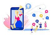 Social media influencer marketing concept.