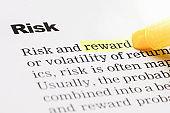 Reward highlighted under the headline Risk