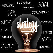 Light Bulb with Strategy Concept