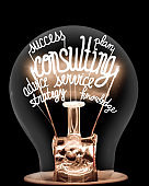 Light Bulbs with Consulting Concept