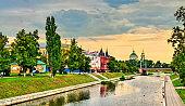 The Orlik River in Oryol, Russia