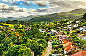 Cityscape of Conwy in Wales, UK