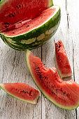 Fresh ripe sliced watermelon