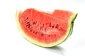Watermelon slice isolated on white