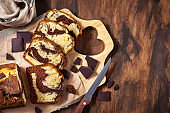 Delicious homemade marble pound cake