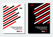 black and red diagonal lines abstract geometrical cover, business or corporate