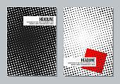minimalistic halftone black and white cover design templates
