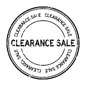 Grunge black clearance sale word round rubber seal stamp on white background