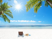Summer tropical beach holiday and vacation scene