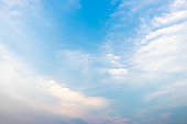 Clear beautiful blue sky with white cloud background