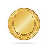 Golden sale frame badge and label vector