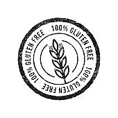 Gluten free grunge rubber stamp on white background, Vector illustration