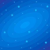 Stars on dark blue cosmic backdrop. Vector flat illustrations. Beautiful pattern cosmic space.