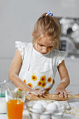 Kid Baking In Kitchen, Cooking In Kitchen
