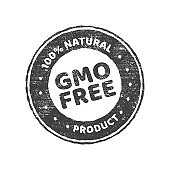 Gmo free grunge rubber stamp on white background, vector illustration