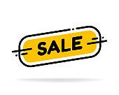 Label template sale shop now. Vector flat illustrations. Big sale special offer.