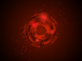 abstract technology circuits in red background