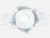 abstract technology gear circle background