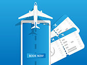 online airplane ticket on mobile