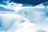 The texture of the snow. outdoor