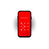 Screen Lock. Interface for lock screen or enter password pages. Vector illustration