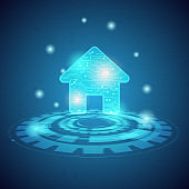 smart home and intelligent technology concept