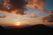 Beautiful sunset in the Dinaric Alps