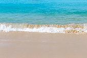 Beautiful clean beach in South of Thailand, clear blue sea water and clean sand beach