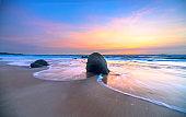 Dawn on beautiful beache