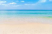 Clear sea water on clean beach, tropical island