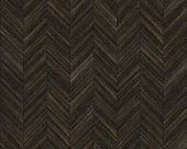 Seamless chevron 45 degree wood texture. Natural dark Oak hardwood or laminate pattern. Medium size planks.