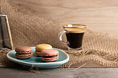 Assortment of homemade macaroons following a French bakery recipe