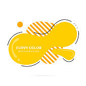 Modern liquid abstract element shape flat style design fluid vector colorful illustration banner simple shape template for presentation, flyer, brochure isolated on white background.