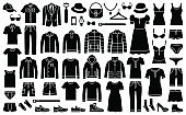 Woman and man fashion clothes