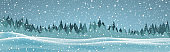 Forest winter festive background wintry snowy landscape