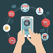 Shopping online and digital marketing , shopping app.