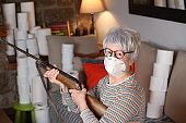 Protestor during quarantine at home
