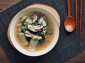 Korean traditional food Oyster soup